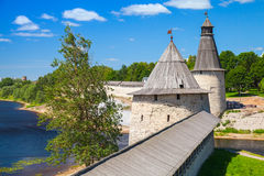 Kremlin in Pskov, Russia. Russian ancient architecture Stock Photos