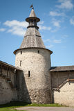 Kremlin of Pskov, Russian Federation. Classical Russian ancient architecture. Stone tower of old fortress. Kremlin of Pskov, Russian Federation Stock Photography