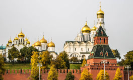 Kremlin quay in Moscow Stock Images