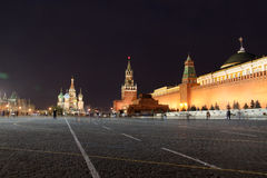 Kremlin on the Red Square. At night Stock Photo