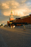Kremlin, Red Square. Chiming clock. Moscow, Russia Royalty Free Stock Images