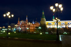 Kremlin and Red Square. Night view of Kremlin and Red Square. Moscow. Russia royalty free stock photos