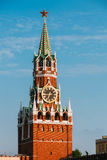 Kremlin On Red Square In Moscow, Russia. Blue Sky Background Stock Photo