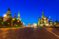 Kremlin, Red Square and Saint Basil's Cathedral in Moscow Stock Photos