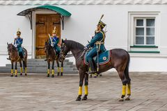 Kremlin regiment on horseback Royalty Free Stock Photo