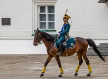 Kremlin regiment on horseback Royalty Free Stock Photos