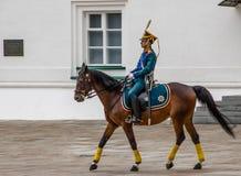 Kremlin regiment på hästrygg Royaltyfria Foton