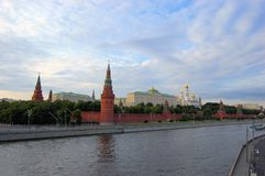 Kremlin and river, Moscow, Russia Stock Image