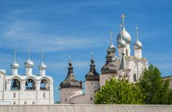 Kremlin of Rostov the Great Stock Photos
