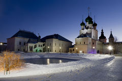 The Kremlin of Rostov the Great in winter Stock Photo
