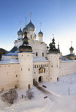 The Kremlin of Rostov the Great in winter Stock Photography