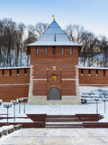 Kremlins tower. Zachatevskaya tower of Nizhny Novgorods Kremlin Royalty Free Stock Images