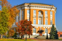 Kremlin Senate 1776 -1787, building within grounds of Moscow Kremlin in Russia. Currently, it houses Russian presidential administration stock image