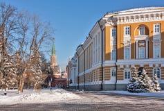 Kremlin Senate and Nikolskaya Tower,Moscow Stock Photography