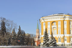 Kremlin Senate (1776-1787) and Nikolskaya Tower (1780) Royalty Free Stock Photos