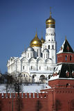 Kremlin series. Cathedral of the Archangel Michael Stock Photos