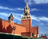 Kremlin with shadow church Royalty Free Stock Photo