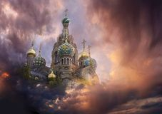 Kremlin in the sky Stock Image