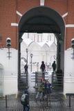 Kremlin sonne sur la place rouge au centre de Moscou, février Image libre de droits