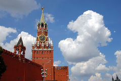 The Kremlin Spasskaya tower Stock Images