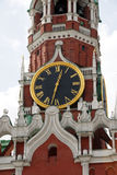 Kremlin Spasskaya tower in Moscow Stock Image