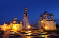 Kremlin square with Alexander Nevsky Church Royalty Free Stock Photo