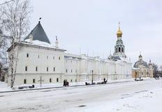 Kremlin Square and Vologda Kremlin Stock Image