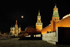 Kremlin and St. Basil cathedral Royalty Free Stock Photography