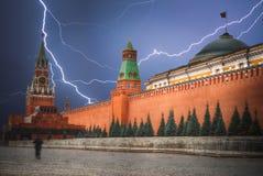 kremlin Starker Blitzschlag Stockbild