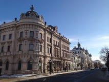 Kremlin street in Kazan Kremlin. Historical mansion in Kazan, Russia Stock Image