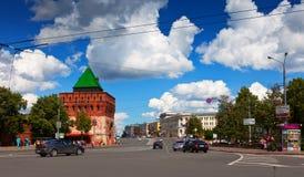 Kremlin street at Nizhny Novgorod in summer Royalty Free Stock Photos