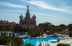 Kremlin style hotel, Antalya, Turkey Royalty Free Stock Images