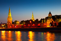 Kremlin in summer night. Russia Stock Images