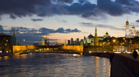 Kremlin on sunset, Moscow Royalty Free Stock Photo