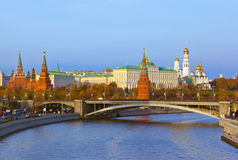 Kremlin on sunset in Moscow Russia Stock Image