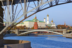 Kremlin on sunset in Moscow Russia Stock Photos