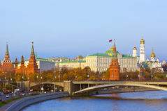 Kremlin on sunset in Moscow Russia Royalty Free Stock Photo