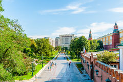 Kremlin tour 5: Alexander garden of the Kremlin Stock Photography
