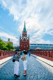 Kremlin tour 3: Bridge over tunneled Neglinnaya ri Royalty Free Stock Photography