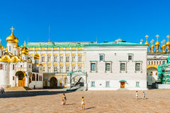 Kremlin tour 16: Cathedral square of the Kremlin o Stock Photo
