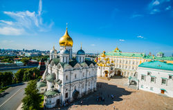 Kremlin tour 20: Panorama of Archangel, Annunciati Stock Photo