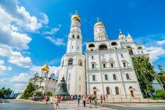 Kremlin tour 35: Tourists return back to Ivan the  Stock Photo