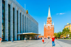 Kremlin tour 10: Tourists take photos in front of  Royalty Free Stock Image