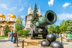 Kremlin tour 37: Tsar Cannon in the Kremlin Royalty Free Stock Images