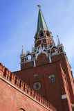 Kremlin Tower. Tower of Kremlin in Moscow (Red square, Moscow, Russia Royalty Free Stock Photos
