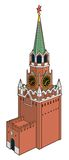 Kremlin tower with clock in moscow Royalty Free Stock Photography
