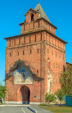 Kremlin tower and gate in russian town Kolomna Royalty Free Stock Images