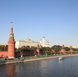 Kremlin tower,  quay and river Royalty Free Stock Image