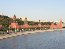 Kremlin tower,  quay and river Stock Photography