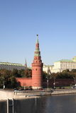Kremlin tower,  quay and river Royalty Free Stock Photo